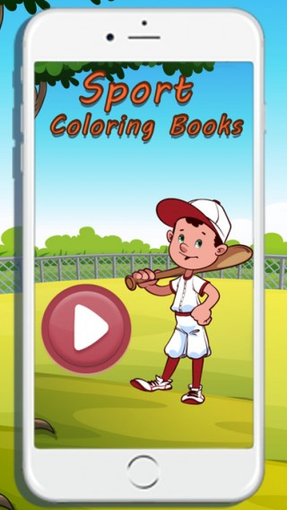 Sport baseball coloring  games for kids截图(2)