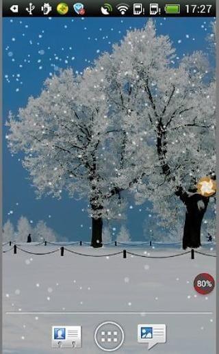 Beautiful Snowfall LWP截图(1)