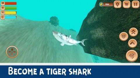 巨型虎鲨模拟器3D安卓破解版截图(1)