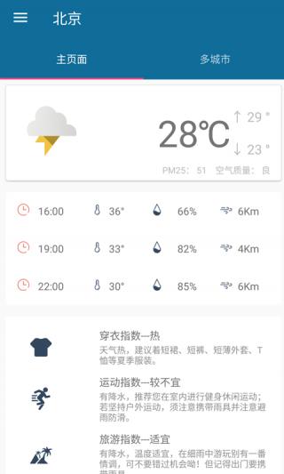 粘人兔天气软件截图(2)