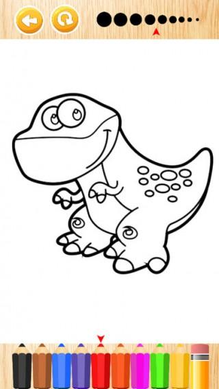 恐龍公園著色遊戲截图(3)