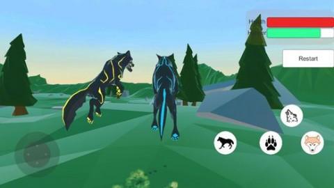 野狼模拟器3D(Wild Wolf Simulator 3D)手游版截图(3)