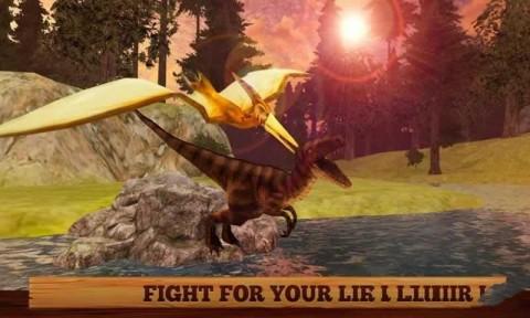 野生飞翔翼龙3D游戏安卓最新版(Flying Pterodactyl Wildlife 3D)截图(1)