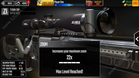 狙击手侵袭中文无限金币内购破解版(Sniper Strike)  v1.504截图(3)