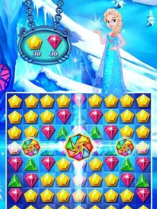 冰雪女王宝石闪击游戏安卓版截图(1)