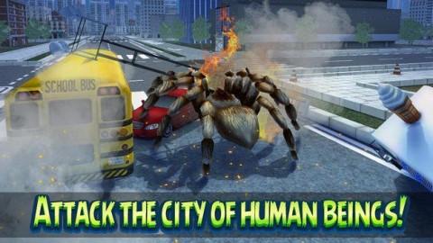 巨型蜘蛛城市攻击模拟3D无限金币破解版截图(3)