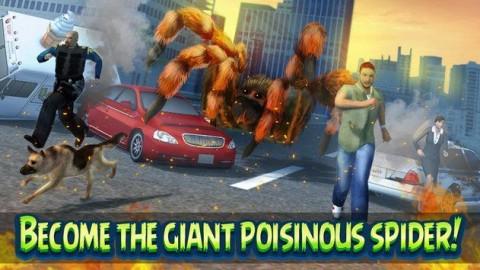 巨型蜘蛛城市攻击模拟3D无限金币破解版截图(2)