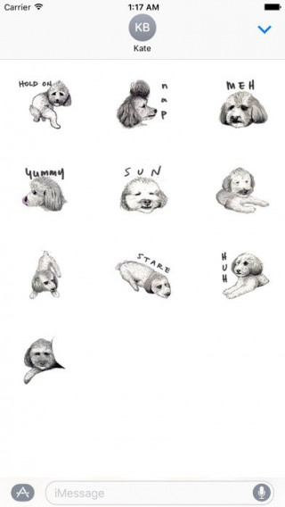 Toy Poodle Dog Emoij Sticker截图(3)