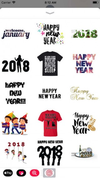 New Year Wishes Animated Pack截图(4)