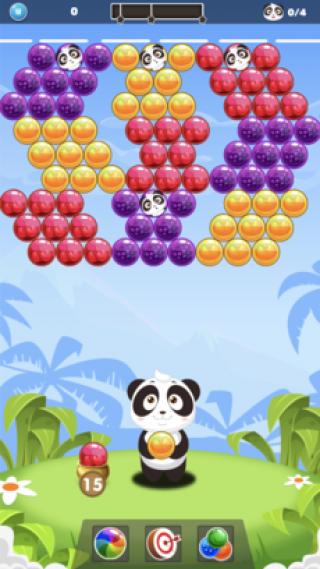 泡泡龙消消乐-拯救熊猫宝宝截图(1)