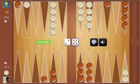 Backgammon Online Tournament! FREE截图(1)