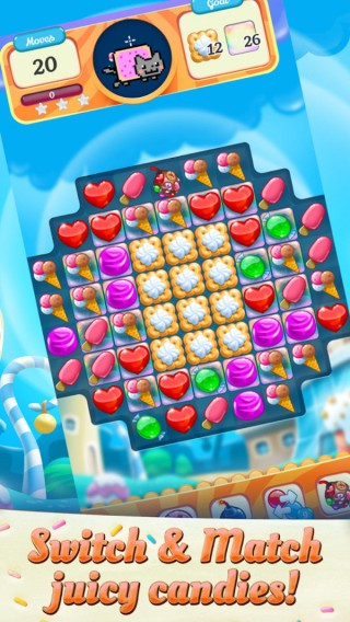 彩虹猫糖果比赛截图(3)
