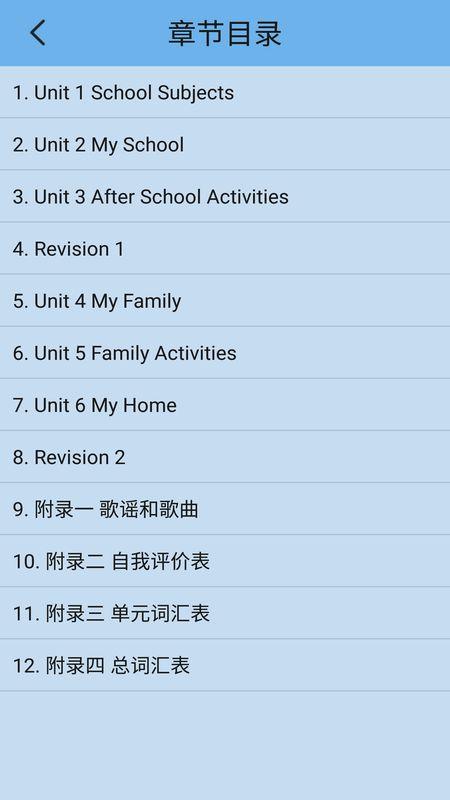 新起点英语三年级下截图(2)