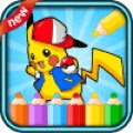 coloring pokem monsters game